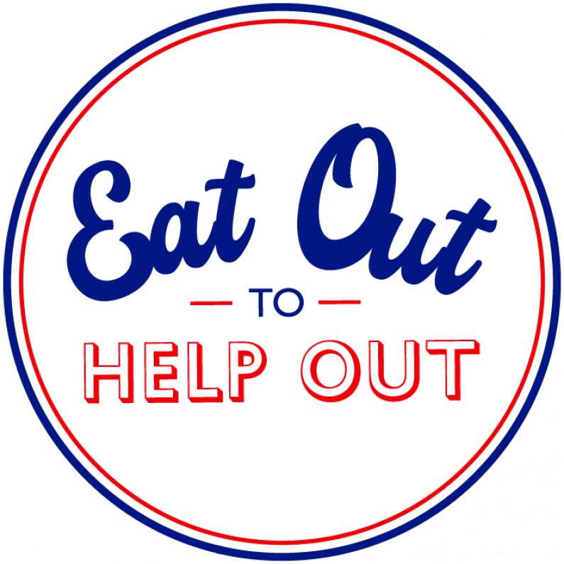 Logo Eat Out to Help Out white version